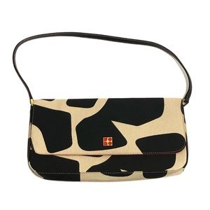 Kate Spade Abstract Links Faille Baguette Flap Bag